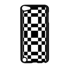 Checkerboard Black And White Apple Ipod Touch 5 Case (black)