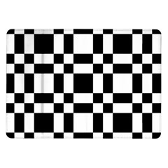 Checkerboard Black And White Samsung Galaxy Tab 10 1  P7500 Flip Case by Colorfulart23