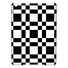 Checkerboard Black And White Ipad Air Hardshell Cases by Colorfulart23