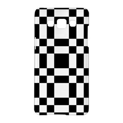 Checkerboard Black And White Samsung Galaxy A5 Hardshell Case  by Colorfulart23