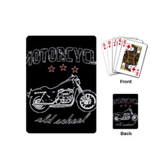 Motorcycle Old School Playing Cards (mini)  by Valentinaart