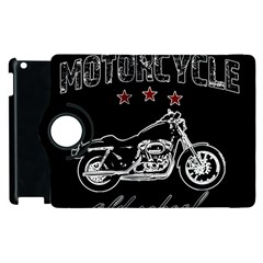 Motorcycle Old School Apple Ipad 2 Flip 360 Case by Valentinaart