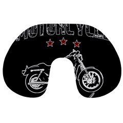 Motorcycle Old School Travel Neck Pillows by Valentinaart