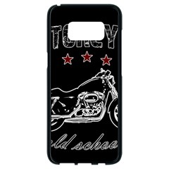 Motorcycle Old School Samsung Galaxy S8 Black Seamless Case by Valentinaart