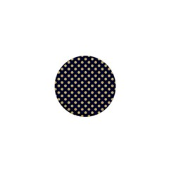 Navy/gold Polka Dots 1  Mini Buttons