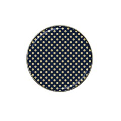 Navy/gold Polka Dots Hat Clip Ball Marker (10 Pack) by Colorfulart23