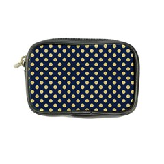 Navy/gold Polka Dots Coin Purse by Colorfulart23