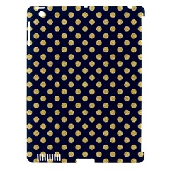 Navy/gold Polka Dots Apple Ipad 3/4 Hardshell Case (compatible With Smart Cover) by Colorfulart23