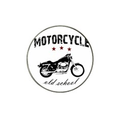 Motorcycle Old School Hat Clip Ball Marker