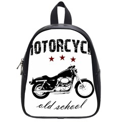 Motorcycle Old School School Bags (small)