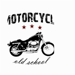 Motorcycle Old School Small Garden Flag (two Sides)