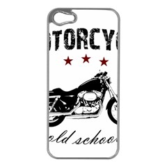 Motorcycle Old School Apple Iphone 5 Case (silver)