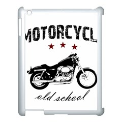 Motorcycle Old School Apple Ipad 3/4 Case (white) by Valentinaart