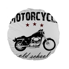 Motorcycle Old School Standard 15  Premium Round Cushions by Valentinaart