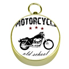 Motorcycle Old School Gold Compasses