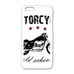Motorcycle Old School Apple Iphone 6/6s White Enamel Case