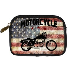 Motorcycle Old School Digital Camera Cases by Valentinaart