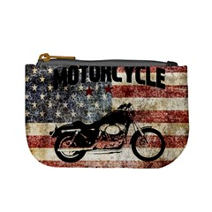 Motorcycle Old School Mini Coin Purses