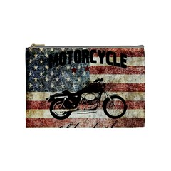 Motorcycle Old School Cosmetic Bag (medium)  by Valentinaart