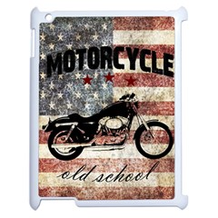 Motorcycle Old School Apple Ipad 2 Case (white) by Valentinaart