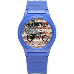 Motorcycle Old School Round Plastic Sport Watch (s)