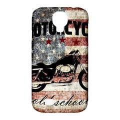 Motorcycle Old School Samsung Galaxy S4 Classic Hardshell Case (pc+silicone)