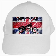 Motorcycle Old School White Cap by Valentinaart