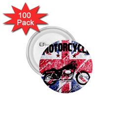 Motorcycle Old School 1 75  Buttons (100 Pack)
