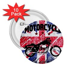 Motorcycle Old School 2 25  Buttons (10 Pack)  by Valentinaart