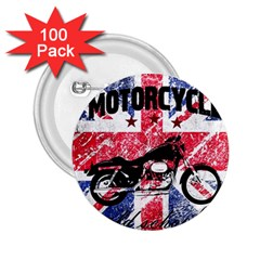 Motorcycle Old School 2 25  Buttons (100 Pack)