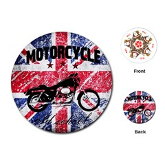 Motorcycle Old School Playing Cards (round)  by Valentinaart