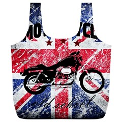 Motorcycle Old School Full Print Recycle Bags (l)