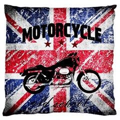 Motorcycle Old School Standard Flano Cushion Case (one Side) by Valentinaart