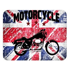 Motorcycle Old School Double Sided Flano Blanket (large)  by Valentinaart