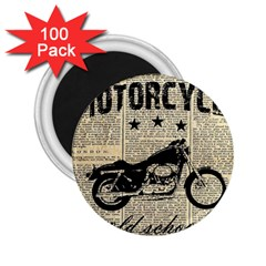 Motorcycle Old School 2 25  Magnets (100 Pack)  by Valentinaart