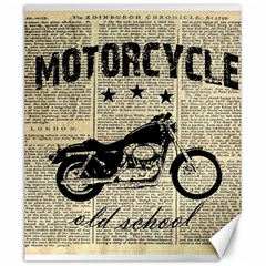 Motorcycle Old School Canvas 20  X 24   by Valentinaart