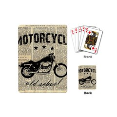 Motorcycle Old School Playing Cards (mini)