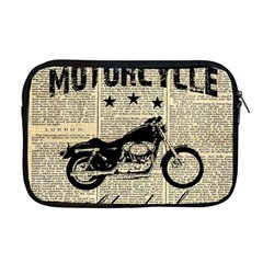 Motorcycle Old School Apple Macbook Pro 17  Zipper Case by Valentinaart
