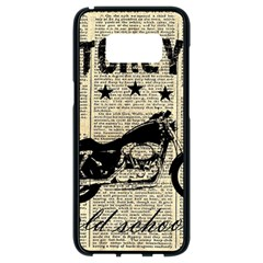 Motorcycle Old School Samsung Galaxy S8 Black Seamless Case