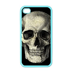 Newspaper Skull Apple Iphone 4 Case (color) by Valentinaart