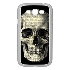 Newspaper Skull Samsung Galaxy Grand Duos I9082 Case (white)