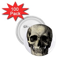 Newspaper Skull 1 75  Buttons (100 Pack)