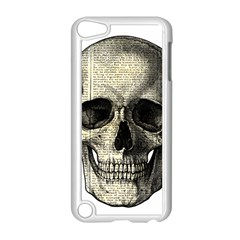 Newspaper Skull Apple Ipod Touch 5 Case (white) by Valentinaart