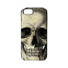 Newspaper Skull Apple Iphone 5 Classic Hardshell Case (pc+silicone) by Valentinaart