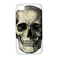 Newspaper Skull Apple Iphone 4/4s Hardshell Case With Stand by Valentinaart