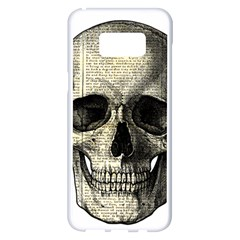 Newspaper Skull Samsung Galaxy S8 Plus White Seamless Case