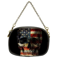 American Flag Skull Chain Purses (two Sides)  by Valentinaart