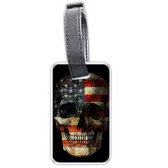 American Flag Skull Luggage Tags (one Side)