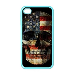 American Flag Skull Apple Iphone 4 Case (color) by Valentinaart