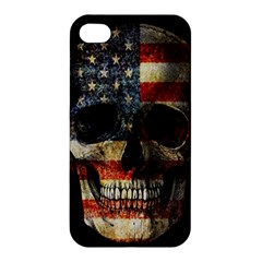 American Flag Skull Apple Iphone 4/4s Hardshell Case by Valentinaart